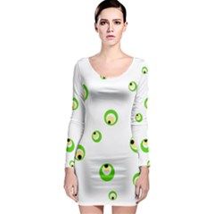 Green eyes Long Sleeve Bodycon Dress