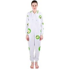 Green eyes Hooded Jumpsuit (Ladies)