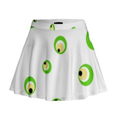 Green Eyes Mini Flare Skirt