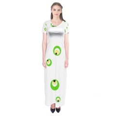 Green Eyes Short Sleeve Maxi Dress