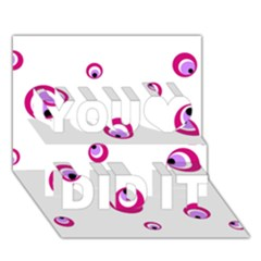 Purple eyes You Did It 3D Greeting Card (7x5)