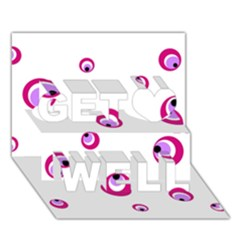 Purple eyes Get Well 3D Greeting Card (7x5)
