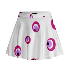 Purple Eyes Mini Flare Skirt