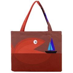 Red monster fish Mini Tote Bag