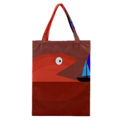 Red monster fish Classic Tote Bag