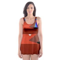 Red monster fish Skater Dress Swimsuit