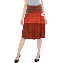 Red monster fish Midi Beach Skirt