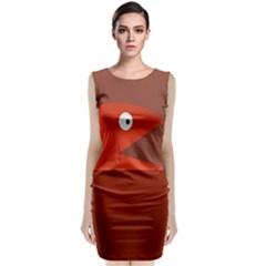 Red Monster Fish Classic Sleeveless Midi Dress
