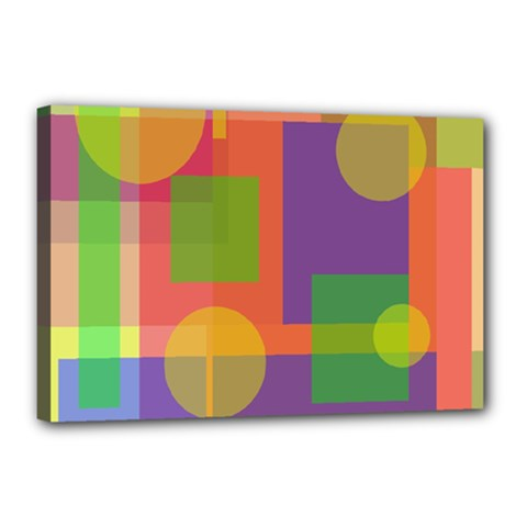 Colorful geometrical design Canvas 18  x 12