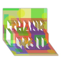 Colorful geometrical design THANK YOU 3D Greeting Card (7x5)