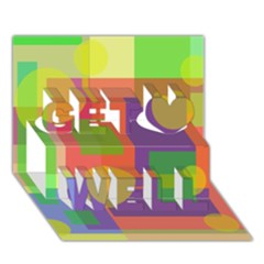 Colorful geometrical design Get Well 3D Greeting Card (7x5)