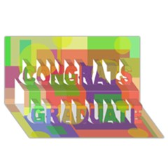 Colorful geometrical design Congrats Graduate 3D Greeting Card (8x4)