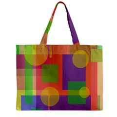 Colorful geometrical design Zipper Mini Tote Bag