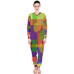 Colorful geometrical design OnePiece Jumpsuit (Ladies)