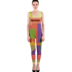 Colorful geometrical design OnePiece Catsuit