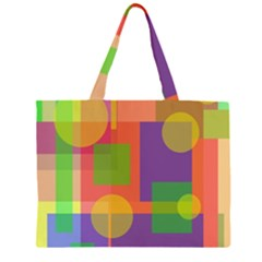 Colorful geometrical design Large Tote Bag