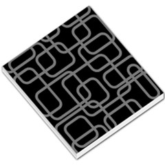 Black and gray decorative design Small Memo Pads