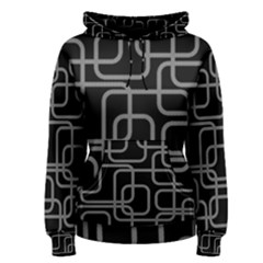 Black and gray decorative design Women s Pullover Hoodie
