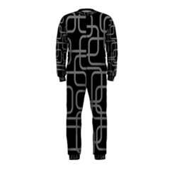 Black and gray decorative design OnePiece Jumpsuit (Kids)