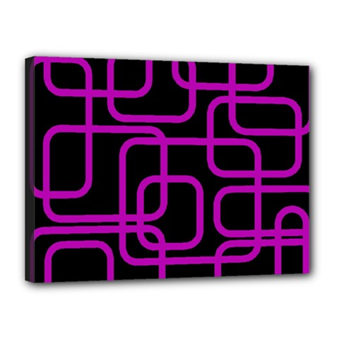 Purple and black elegant design Canvas 16  x 12