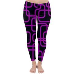 Purple and black elegant design Winter Leggings