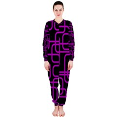 Purple and black elegant design OnePiece Jumpsuit (Ladies)