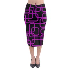 Purple And Black Elegant Design Midi Pencil Skirt