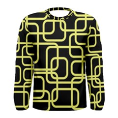 Yellow and black decorative design Men s Long Sleeve Tee