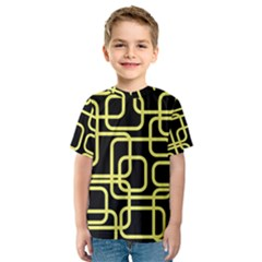 Yellow and black decorative design Kid s Sport Mesh Tee