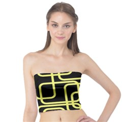 Yellow and black decorative design Tube Top