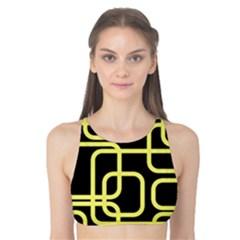 Yellow and black decorative design Tank Bikini Top
