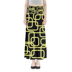 Yellow and black decorative design Maxi Skirts