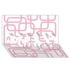 Pink Elegant Design Sorry 3d Greeting Card (8x4)