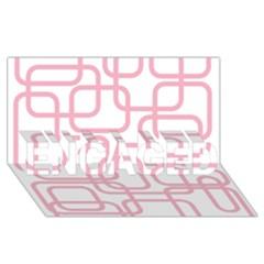 Pink elegant design ENGAGED 3D Greeting Card (8x4)
