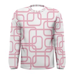 Pink elegant design Men s Long Sleeve Tee