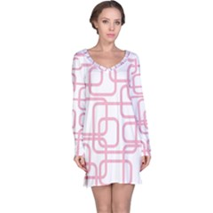 Pink elegant design Long Sleeve Nightdress