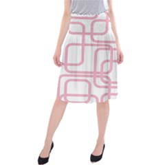 Pink elegant design Midi Beach Skirt