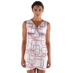 Pink elegant design Wrap Front Bodycon Dress