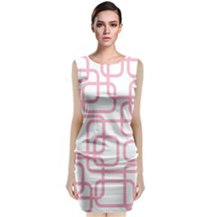 Pink Elegant Design Classic Sleeveless Midi Dress