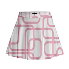 Pink Elegant Design Mini Flare Skirt