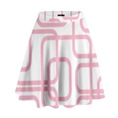 Pink elegant design High Waist Skirt