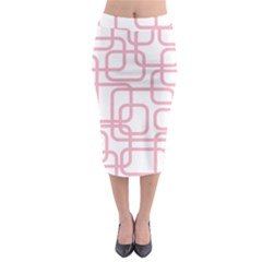 Pink Elegant Design Midi Pencil Skirt