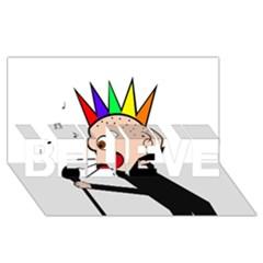 Punker  BELIEVE 3D Greeting Card (8x4)