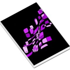 Purple decorative abstraction Large Memo Pads