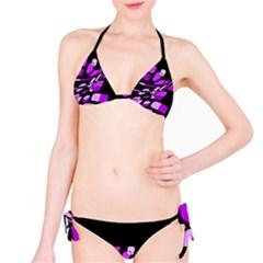 Purple decorative abstraction Bikini Set