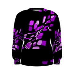 Purple decorative abstraction Women s Sweatshirt