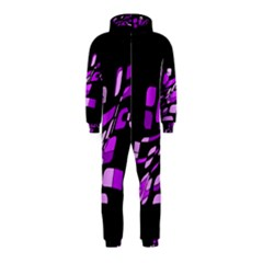 Purple decorative abstraction Hooded Jumpsuit (Kids)