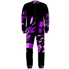 Purple decorative abstraction OnePiece Jumpsuit (Men)