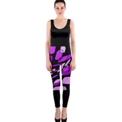 Purple decorative abstraction OnePiece Catsuit