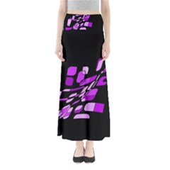 Purple decorative abstraction Maxi Skirts